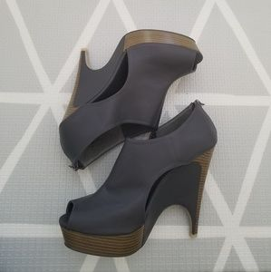 Shoedazzle Tatum Faux Leather Wedge